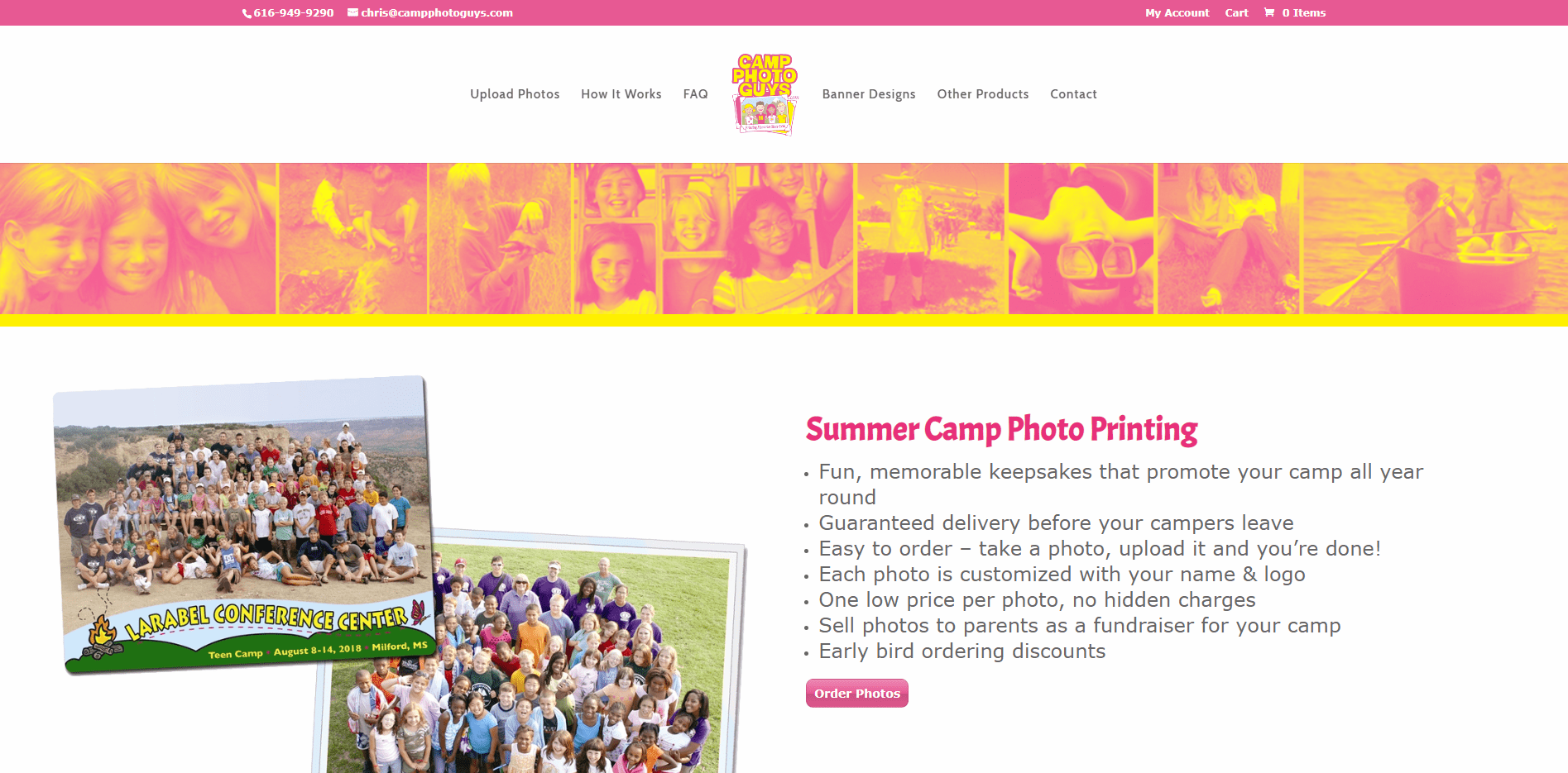 Camp Photo Guys - Small Business Website by Purple Gen