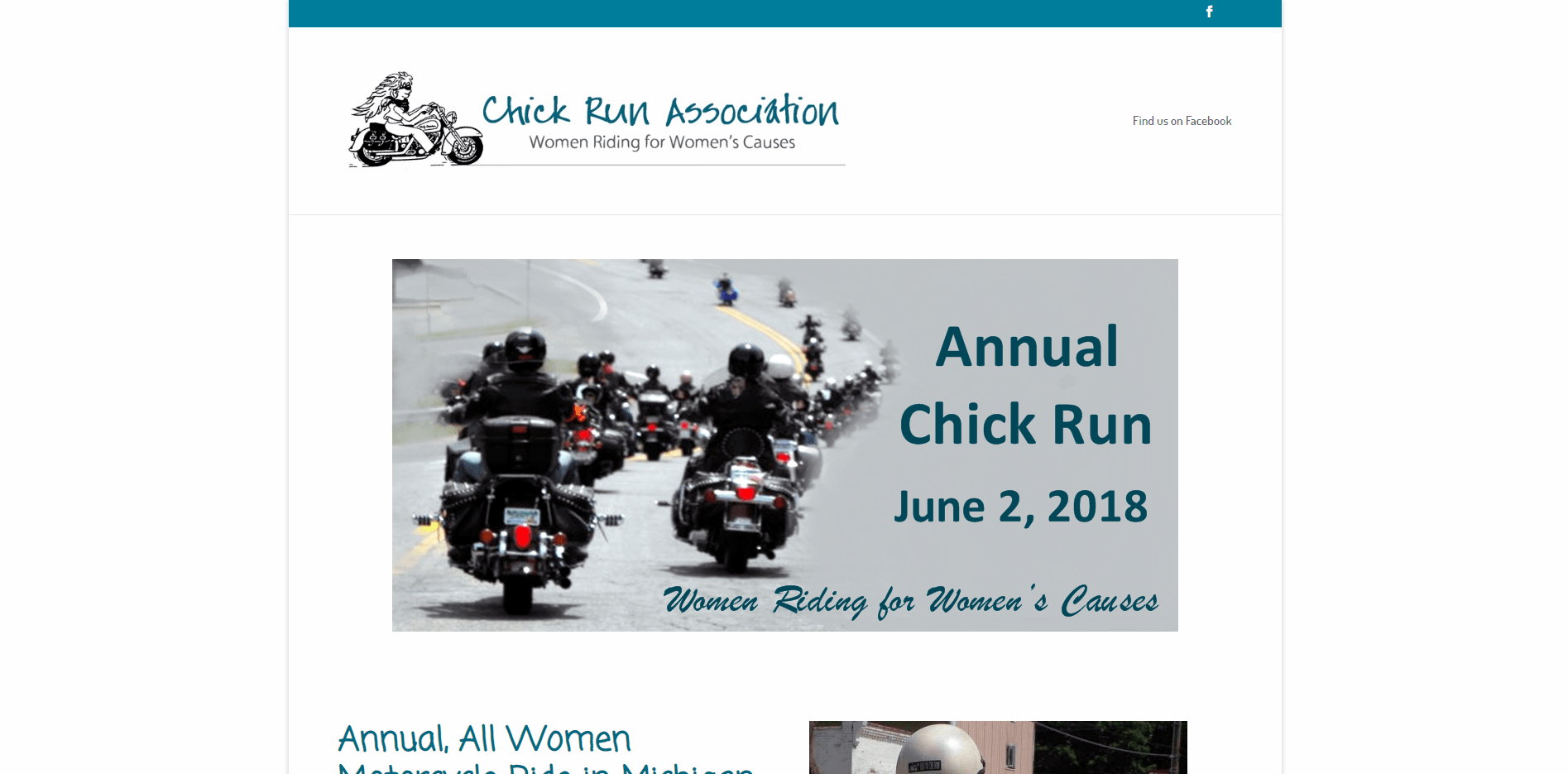 Chick Run Association - Small Business Website by Purple Gen