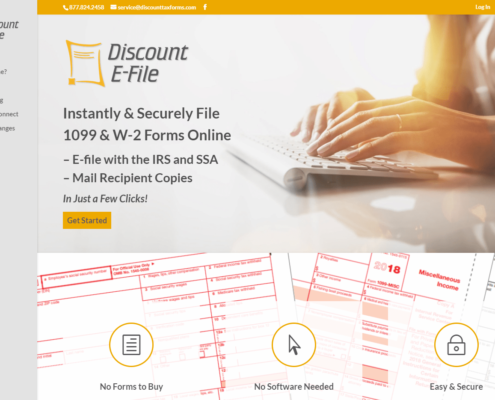 Discount Efile - Small Business Website by Purple Gen