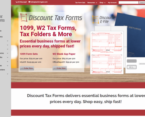 Discount Tax Forms - Small Business Website by Purple Gen