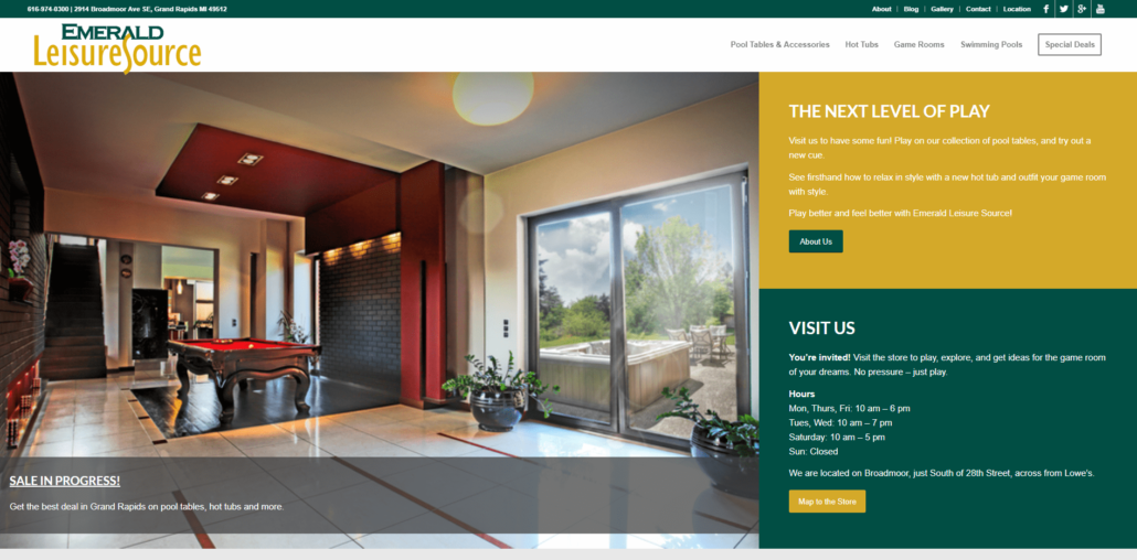 Emerald Leisure Source - Google Ads Management by Purple Gen