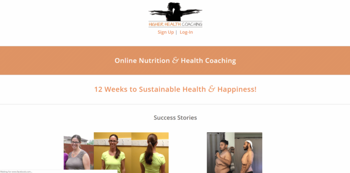Higher Health Coaching - Small Business Website by Purple Gen