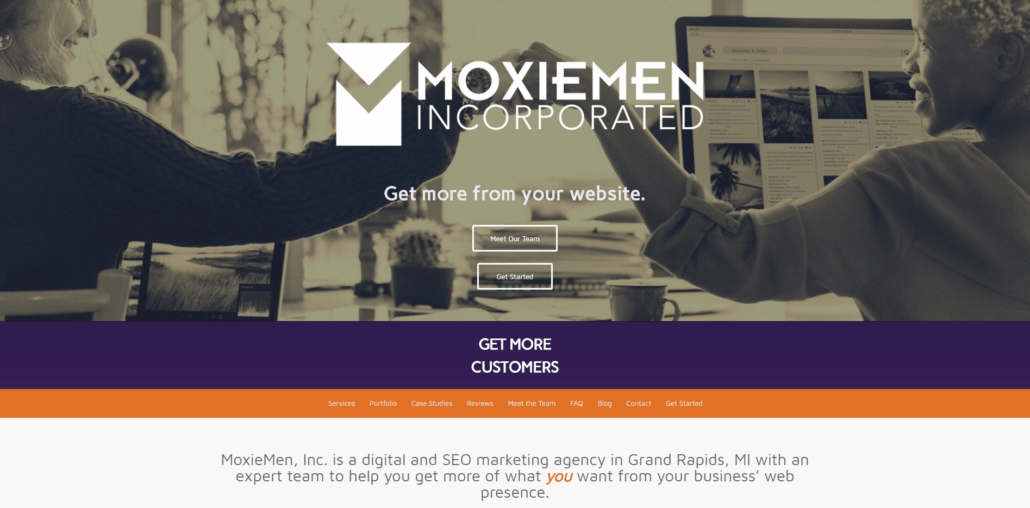 MoxieMen Incorporated - Small Business Website by Purple Gen