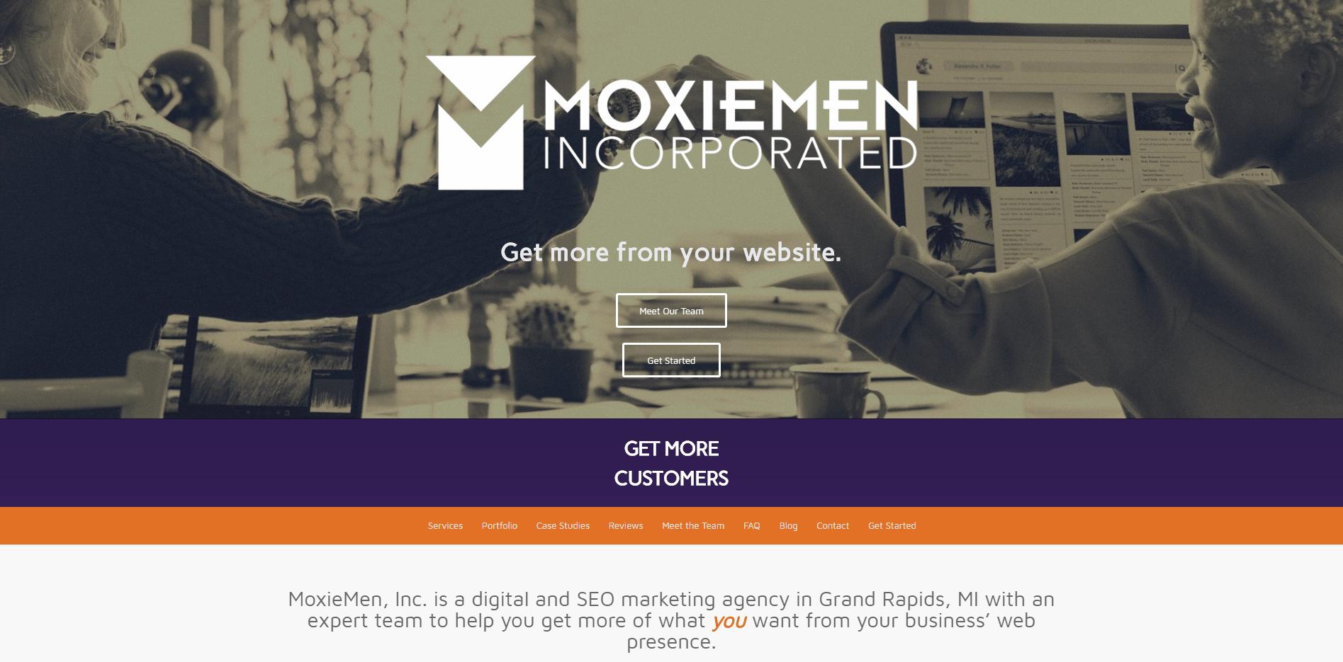MoxieMen Incorporated - Small Business Website by Purple Gen