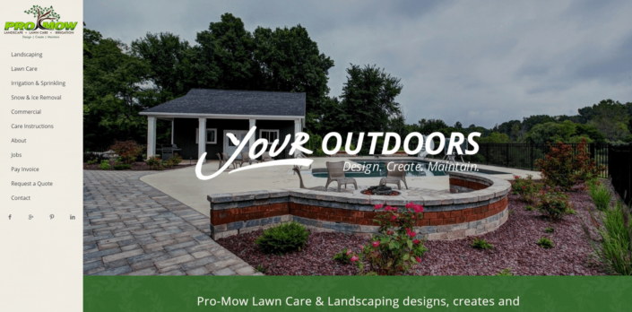 ProMow Landscaping - Small Business Website by Purple Gen