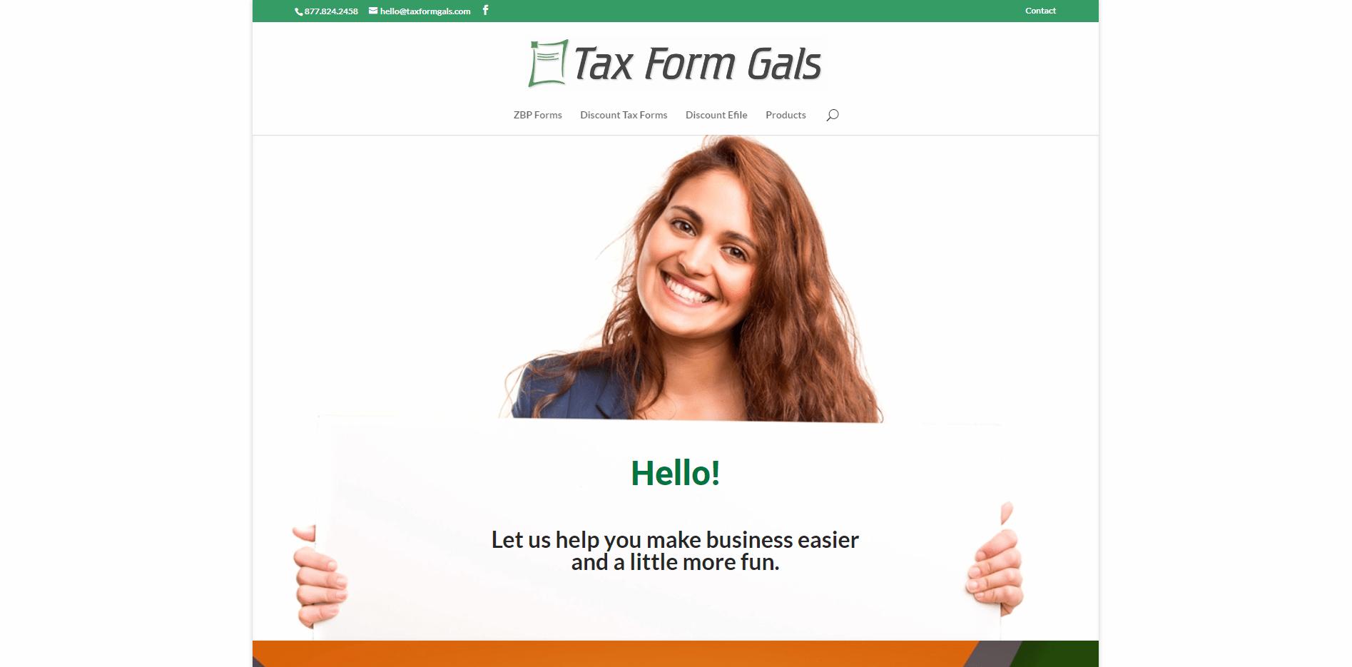 Tax Form Gals - Small Business Website by Purple Gen