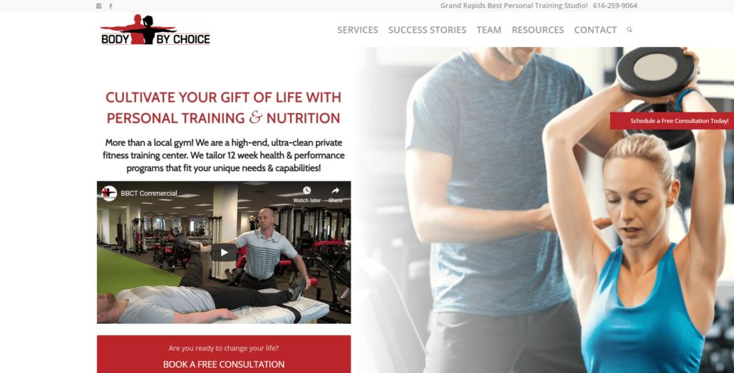 Body by Choice Training Website Design and Marketing by Purple Gen - Purple-Gen.com