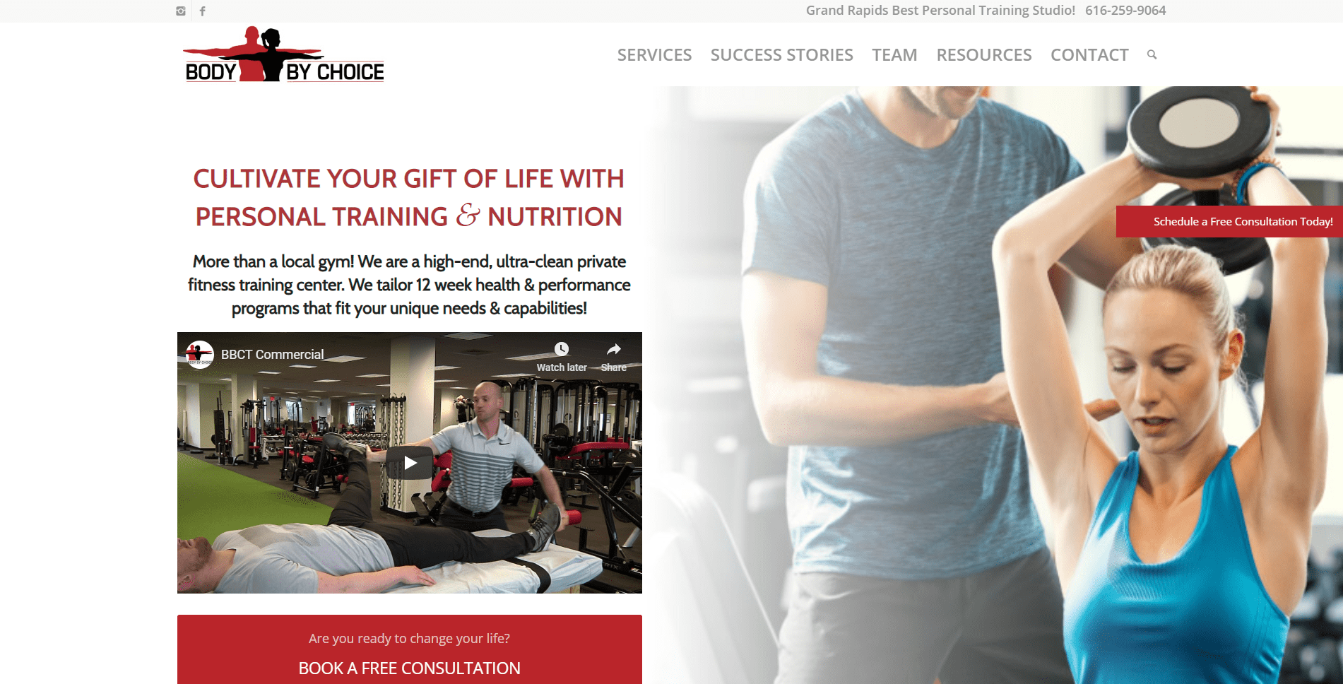 Body by Choice Training Website Design and Marketing by Purple Gen - Purple-Gen.com