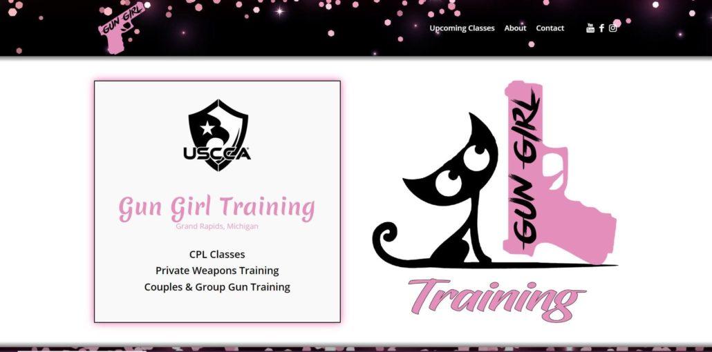 Gun Girl Training Website Design by Purple Gen - Purple-Gen.com
