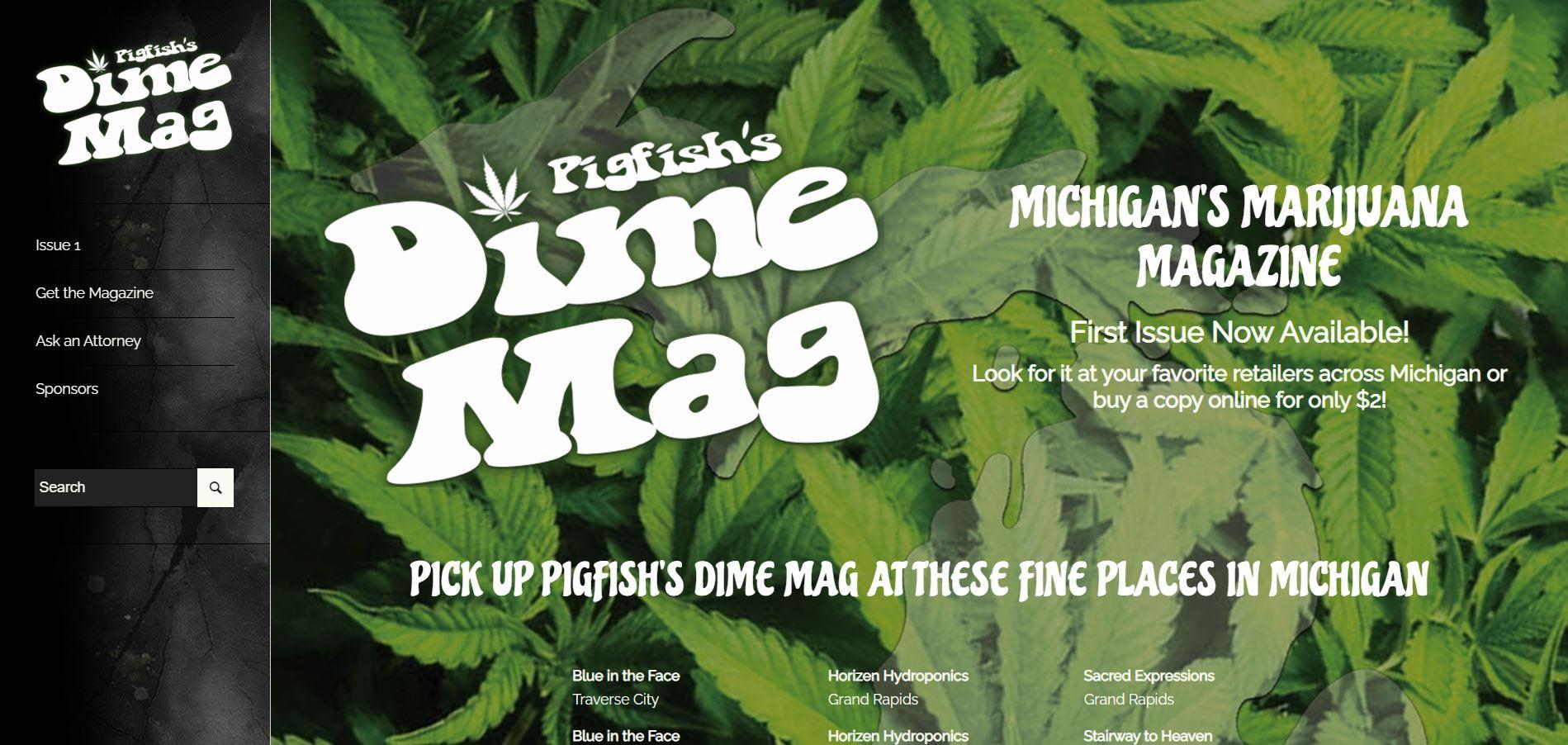Pigfish's Dime Mag Website by Purple Gen - Purple-Gen.com