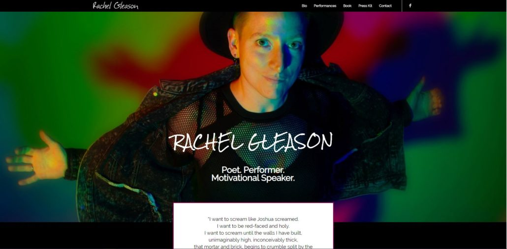 Rachel Gleason Website Design by Purple Gen - Purple-Gen.com