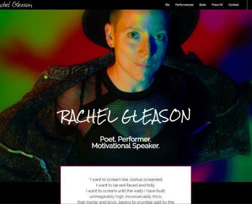 Rachel Gleason Website Design by Purple Gen - Purple-Gen.com